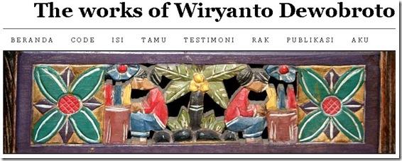 wiryanto dewobroto blog