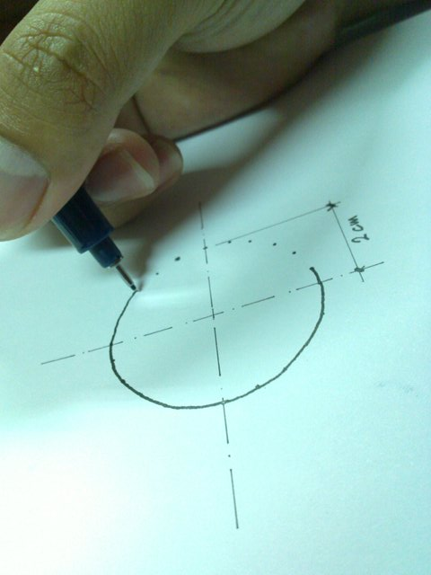 menggambar lingkaran